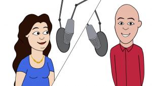 Freelance Millennial Voiceover Talent Maria Pendolino & Ian Fishman Animated